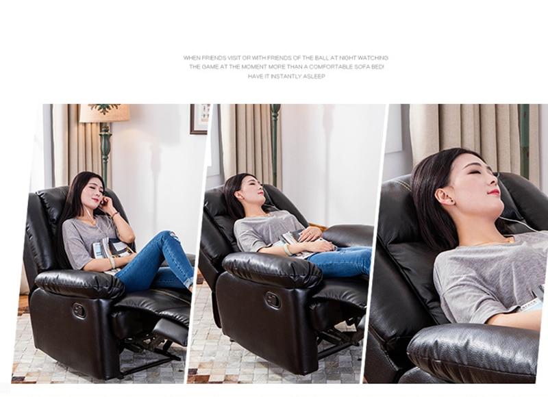 Европейский первый класс кабина Диван офисный дом Многофункциональный один диван стул лежа стул