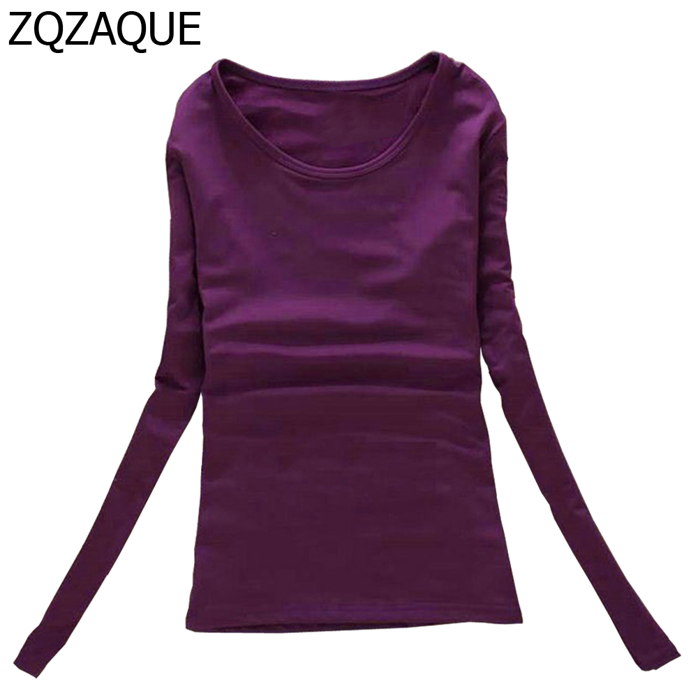 2019 Women's O-neck Long-sleeved Velvet Fleece T-shirts Casual Spring Autumn High Quality Clothing Female's Fashion Tops SY024