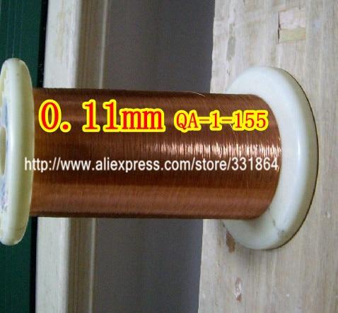 Réparation émaillée de fil de cuivre émaillé par polyuréthane de 0.11 * 1000m / pcs QA-1-155