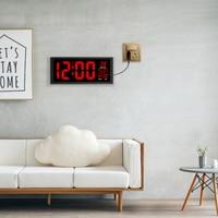 2018 new red LED wall clock, Table Clock, dual use Office Decor USB modern design Home large clocks Big digits EU/US power plug