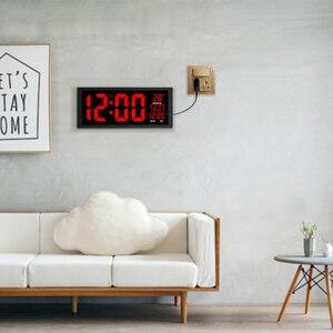 Image 5 - TXL nuovo LED rosso orologio da parete, Orologio Da Tavolo, A duplice uso Ufficio Decor USB moderno design Per La Casa di grandi dimensioni orologi Grandi cifre EU/spina di potere DEGLI STATI UNITI