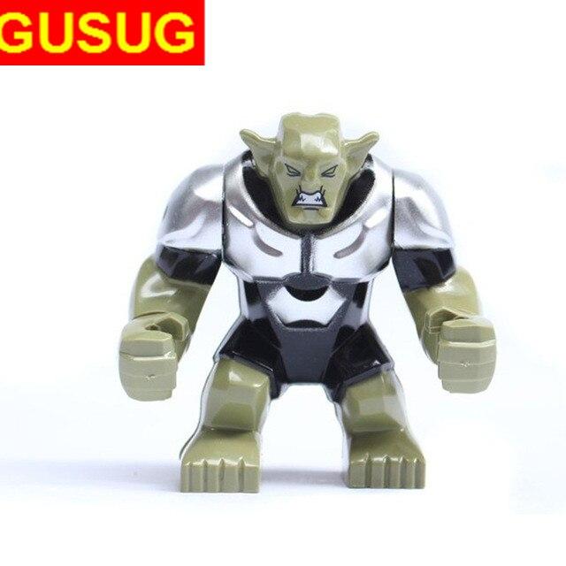GUSUG 50pcs 0183 Building Blocks Super Heroes Action 7cm Big Green Goblin Bricks Baby Toys