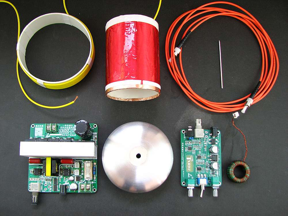SSTC MiDI Tesla coil project  DIY KIT diy mini sstc full bridge tesla coil drive board electronic part fiber arc extinguishing midi music scientific experiment