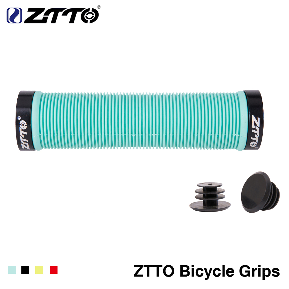 1Pair ZTTO MTB Handlebar Grips Silicone Gel Lock On Anti Slip Grips For MTB Folding Bike Bicycle Parts AG15