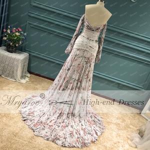 Image 5 - Mryarce Morden Bride Floral Flowy Chiffon Boho Chic Wedding Dress Off The Shoulder Open Legs  Bridal Gowns