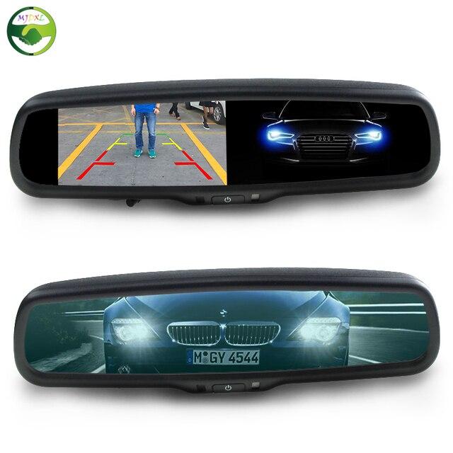 4.3 Дюймов HD 800*480 Авто Затемнением Специальный Кронштейн Автомобиля TFT LCD парковка Вид Сзади Зеркало Заднего Вида Монитора Видео-Плеер 2 CH Вход