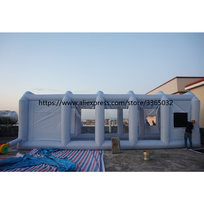 Portátil ao ar livre inflável cabine de pulverizador, cabine móvel carro inflável cabine de pintura para a venda