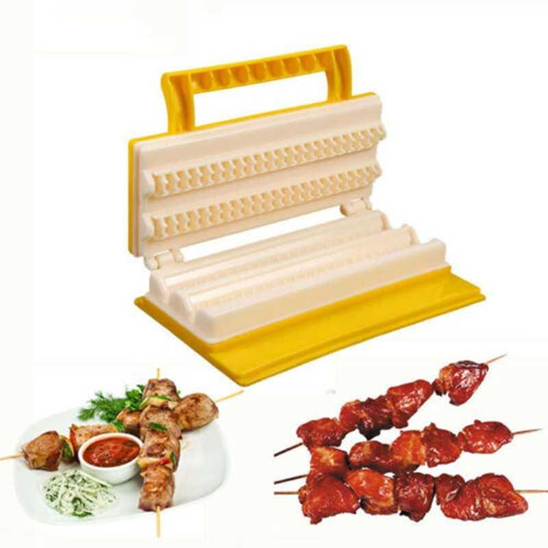 BBQ Meat Skewer Machine Portable Plastic Meat String Kebab Maker BBQ Tool