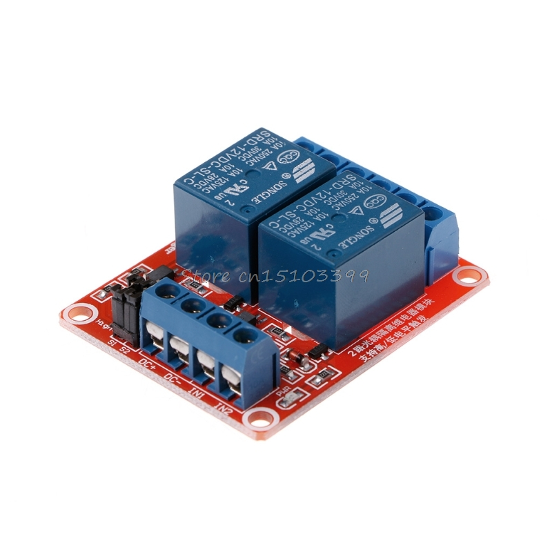 12V 2 Channel 4 Road Relay Module with Optocoupler Isolation Supports High and Low Trigger #G205M# Best Quality 16 channel relay module low level trigger relay control panel with optocoupler dc12v for plc automation equipment control