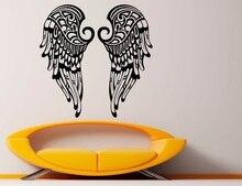 Autocollants muraux en vinyle, ailes dange chrétien, Religion, christianisme, décoration dintérieur pour salon, chambre à coucher, 2CB2