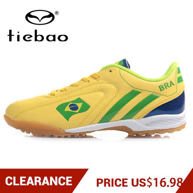 Clearance! TIEBAO Soccer Shoes Sneakers Men Women Rubber Sole Athletic Training Shoes TF Turf Football Boots botas de futbol