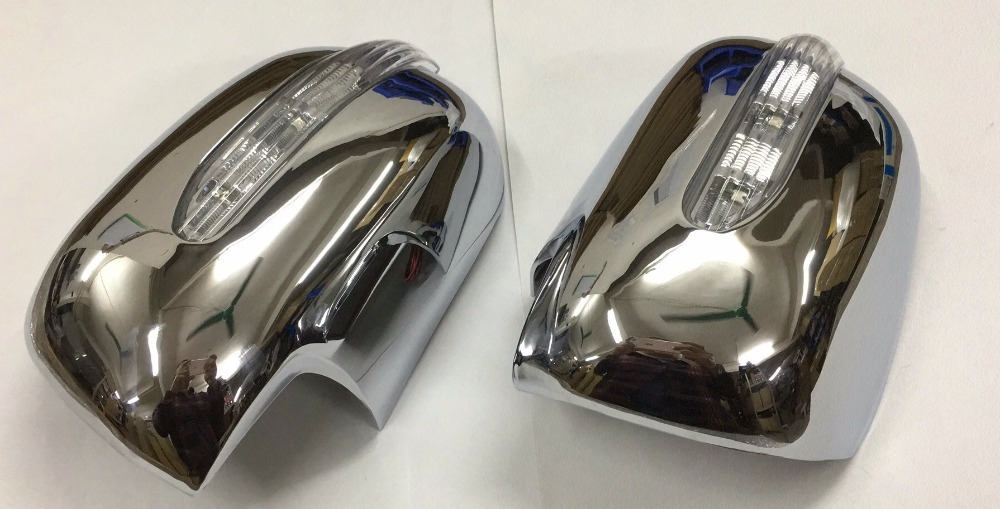 Chrome Styling Side Mirror Cover with LED Side Blinker for Toyota Sienna 04 10