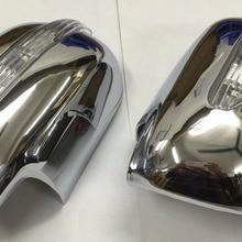 Хромированный стильный боковое зеркало с светодиодный боковым мигалкой для Toyota Sienna 04-10