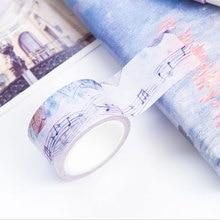 25mm * 7m sheet music paper Washi Tape DIY decoration scrapbooking planner masking tape adhesive tape label sticker stationery недорого