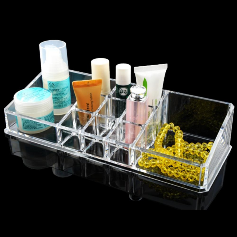 Lipstick Acrylic Clear Make Up Desk Cosmetic Organiser Display Stand Holder Case EQC355 acrylic makeup organizer
