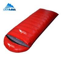 Outdoor Hiking Camping Equipment Envelope Warm Duck Down Sleeping Bag Ultralight Water Resistant Sacos De Dormir Compression Bag