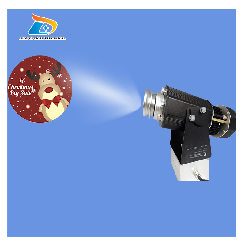 PromotionWedding Use Rustproof Aluminum Alloy 80W LED Gobo Projector Advertising Gobo Image Projector Gobo Logo Projection Light