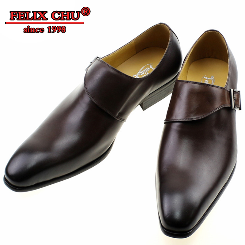 الفاخرة العلامة التجارية عارضة تصميم جلد طبيعي تنفس MEN 'S مشبك الراهب حزام الزفاف أحذية تو عادي مكتب الشقق الرسمي الأحذية-في أحذية رسمية من أحذية على  مجموعة 1