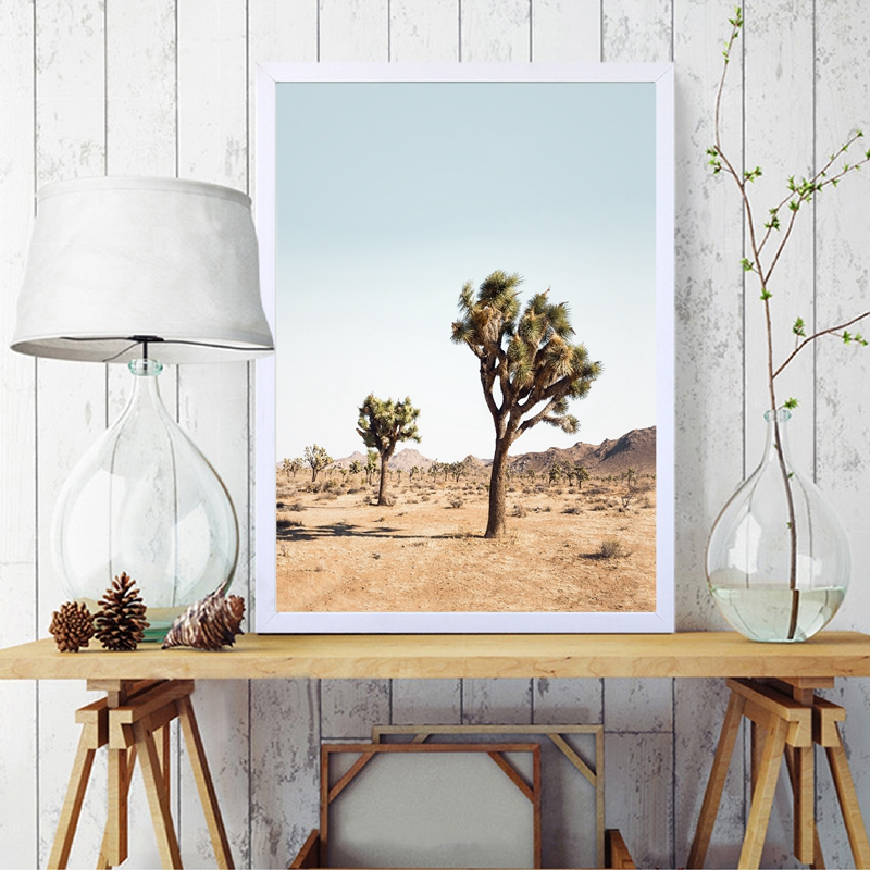 Joshua Tree Wall Art Canvas Posters Prints California Desert Cactus Painting Modern Boho Minimalist Picture Living Room Decor
