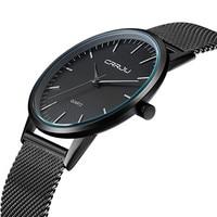 CRRJU Top Watches Men Luxury Brand Casual Stainless Steel Watches Japan Quartz Unisex WristWatch For Men