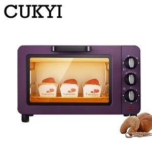 CUKYI Mini piece domowe 15L pojemność wielofunkcyjna maszyna do pieczenia piekarnik elektryczny zegar do pieczenia 60min pizza toster do chleba ue