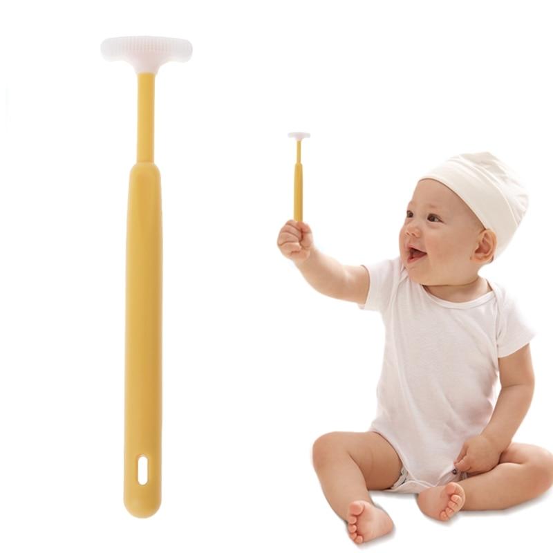 1 Pza nuevo rascador de lengua de bebé limpiador de brochas Limpieza de recién nacidos cuidado de enfermería higiene bucal cuidado del bebé