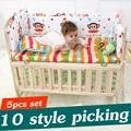 5 UNIDS Recién Nacido Bebé ropa de Cama Cuna Set Para La Muchacha Del Bebé Cuna Juegos de Cama de Bebé Cuna Parachoques Cuna Parachoques de parachoques 90x50 cm CP01S