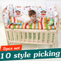 5PCS Newborn Baby Crib Bedding Set For Girl Boy Baby Crib Bumper Baby Bed Sets Cot Bumper Baby Bed Bumper 90x50cm CP01S