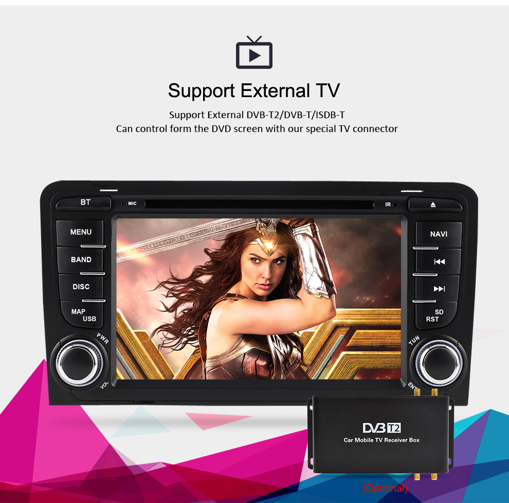 Image 3 - 4G RAM+32G ROM Android 9.0 car DVD Radio Multimedia Player For Audi A3 S3 2002 2013 Audio GPS Video Stereo Navigation Headunit-in Car Multimedia Player from Automobiles & Motorcycles