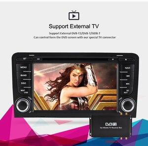 Image 2 - 4G RAM + 64G ROM أندرويد 10.0 مشغل أسطوانات للسيارة راديو مشغل وسائط متعددة لأودي A3 S3 2002 2013 الصوت لتحديد المواقع ستيريو الملاحة الفيديو