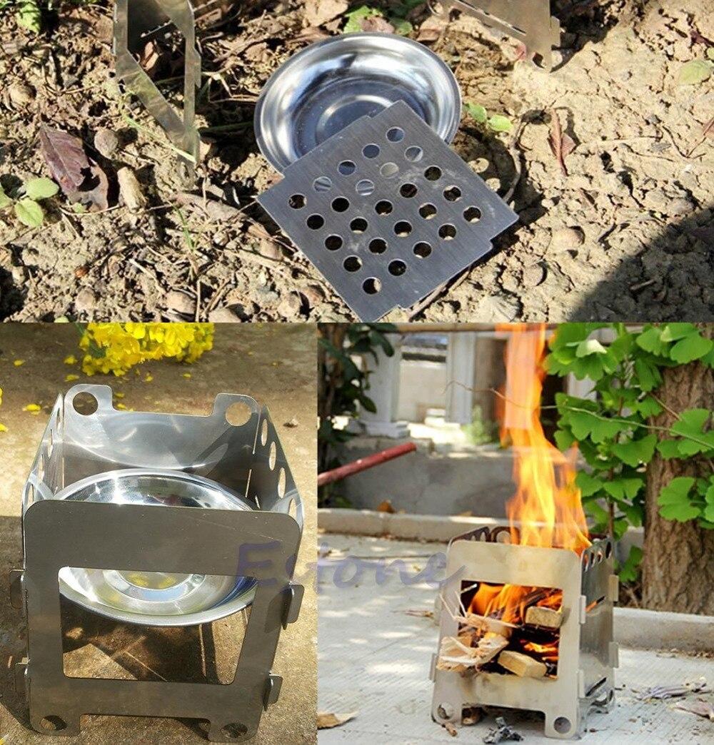 Cocina al aire libre Camping plegable estufa de madera Pocket ...