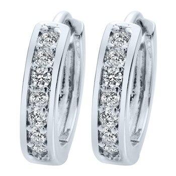 Kinitial 1Pair Small Hoop Earrings 24K Gold Cubic Zirconia Round Hoop Earrings Filled Clear Womens Earrings Surgical Jewelry 1