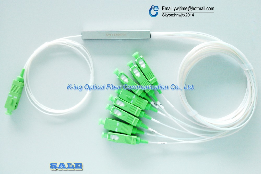 5 pièces 1x8 Ports SC/APC SM Mini Diviseur de PLC FTTH accessoires Pour GPON OLT avec connecteurs