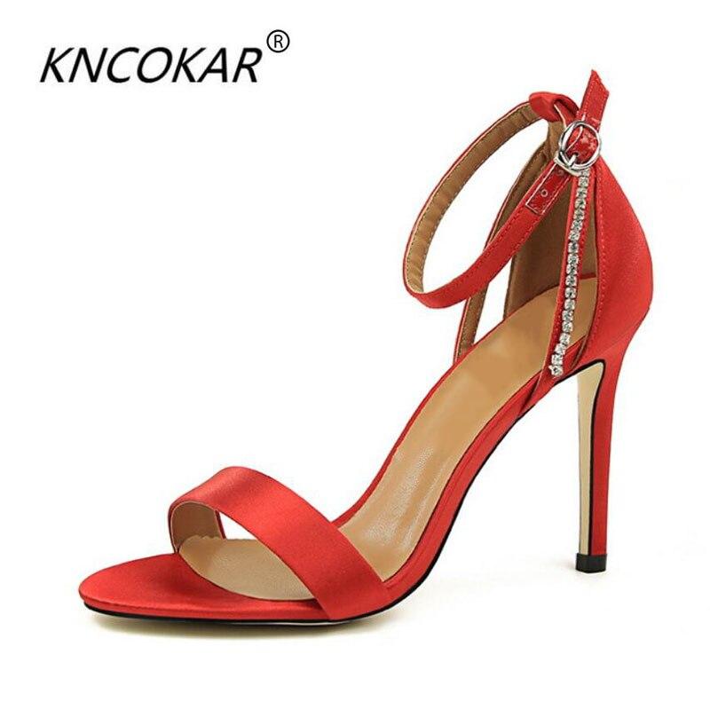 Chaussures De Mode Kncokar2018 Cm Hauts Nombre Noir 9 39 Côté D'eau Banquet Mariage lavande Talon D'été Brique rouge Talons À 5 Hauteur Yard argent kaki vert 34 Sandales 55rEvqw