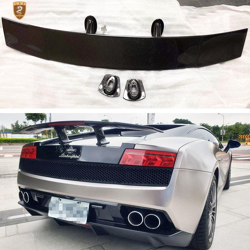 In Fibra di carbonio Posteriore Spoiler Spoiler Posteriore GT Ala Per Lamborghini Gallardo LP550 LP560 LP570 2004 2005 2006 2007 2008 2009 2010 2011 2012