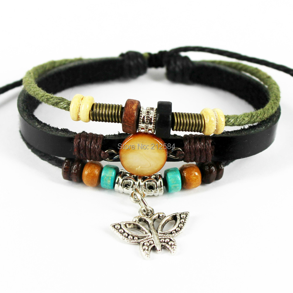 Man Fashion  Shell Beads Strand Charm Bracelet