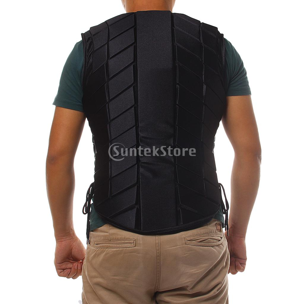 Black ADULT Safety Equestrian Horse Riding Vest Protective Body Protector Gear XS-XXXL safety equestrian horse riding vest protective body protector navy adult s breathable vest waistcoat camping hiking accessory
