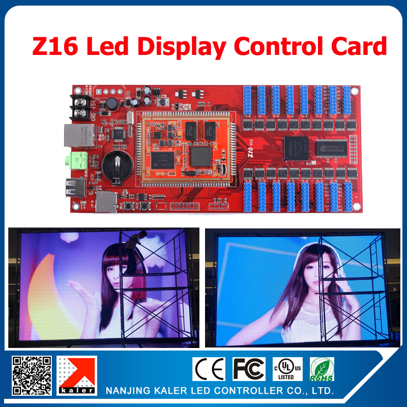Kaler Manufacturer Supply 256*512 Pixels Z16 Full Color Video Card Indoor Outdoor Led Display Controller