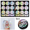 9 Sheets Hot Sale And Free Shipping Nail Art Hollow Flower Sticker Stencil Gel Polish Nail