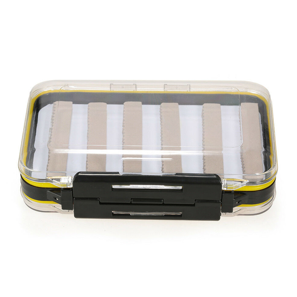 Sports Fly Fishing Box Accessories Double Sided Storage Hook Container ABS Bait Large With Foam Clear Waterproof(China)