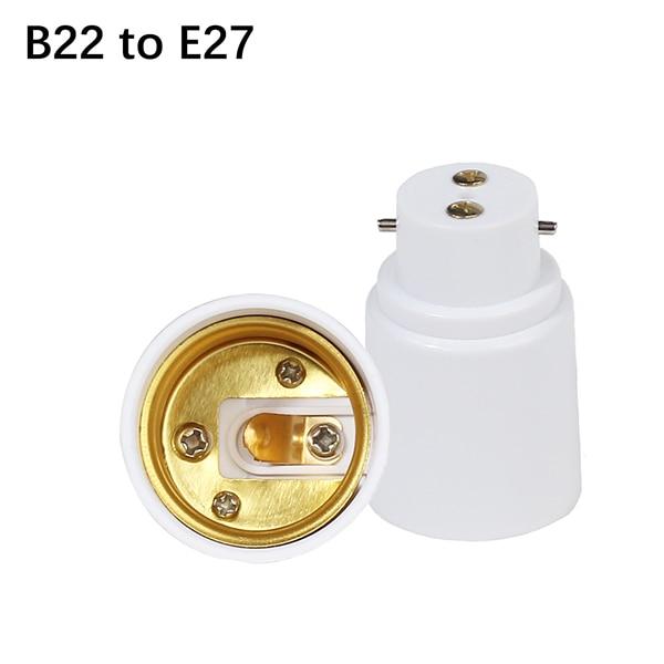 1 шт. B22 к E14 GU10 Лампа База B22 держатель лампы Конвертор гнездо адаптера для Светодиодная лампа spotlight - Цвет корпуса: B22 to E27