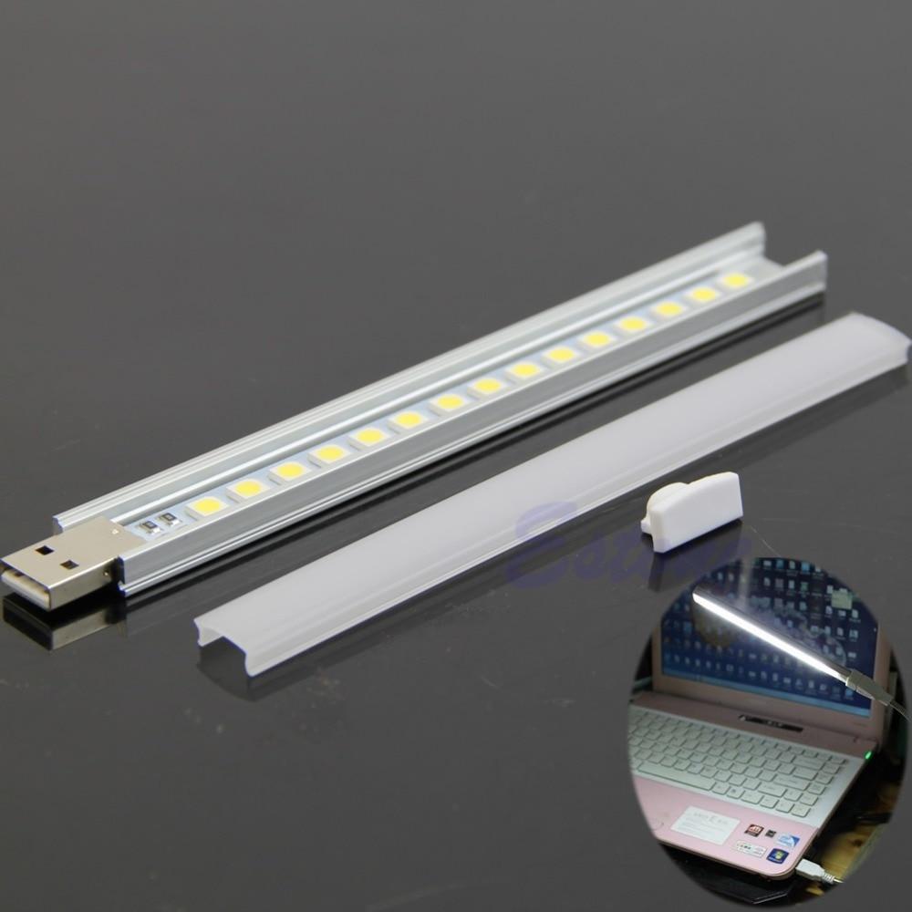 15 led usb portable strip lamp light maximum illumination. Black Bedroom Furniture Sets. Home Design Ideas