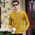 Moda de Lujo 2016 de Los Hombres Jerseys Marca Casual mezclas De Lana de punto Otoño Suéter Outwear Mantener Caliente Invierno Hombre Suéteres