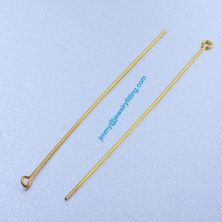 2013 Jewelry Making findings Raw Brass Eye Pins ;Scarf Pins findings 0.7*76mm shipping free