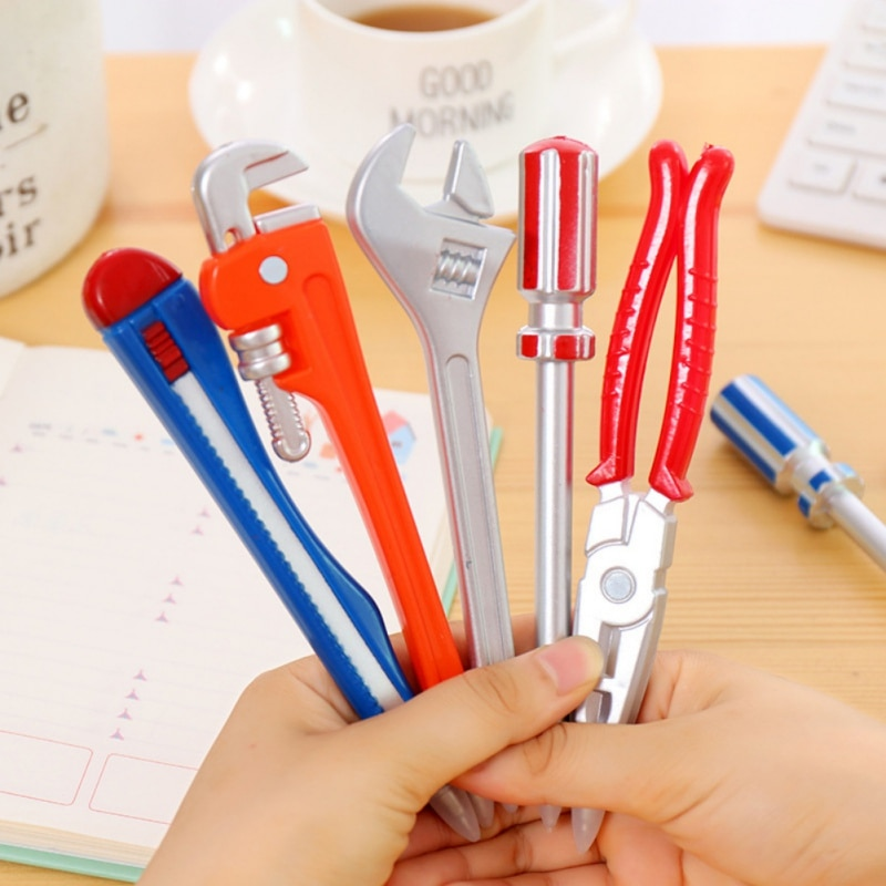 Pack Of 1 Novelty Tool/Cool Replica Gun Ballpoint Pens Nk School Office Student Supplies Gift Kid Toy With Magnet Black Writing(China)