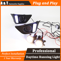 A T Car Styling For Honda FIT LED DRL For Honda FIT Led Fog Lamps Daytime