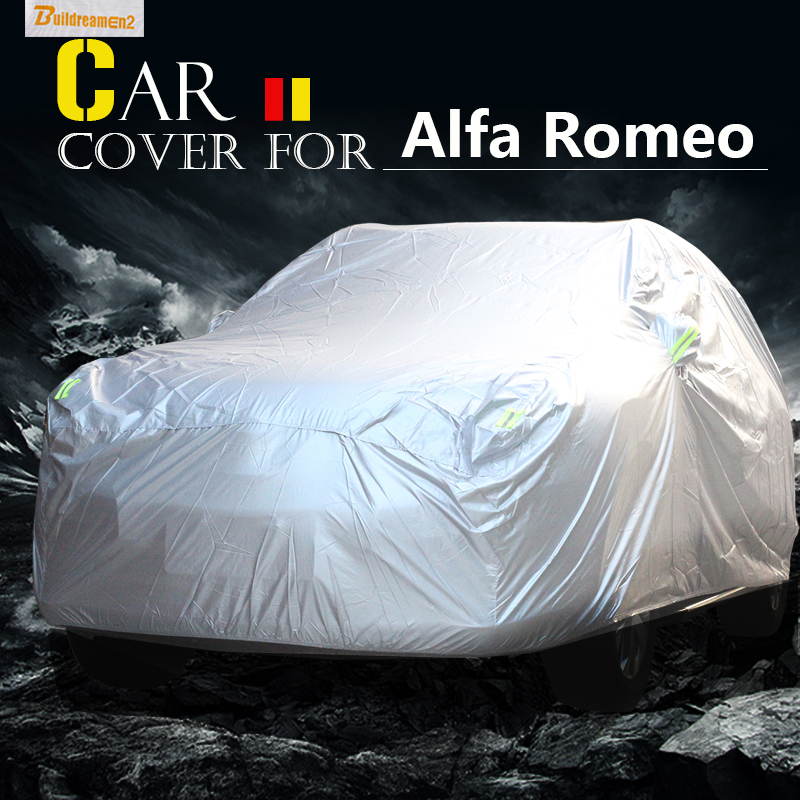 Buildreamen2 Car Cover Outdoor Anti UV Sun Shade Snow Rain Scratch Protector Cover Waterproof For Alfa