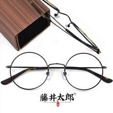 TARO FUJII Spectacle Frame Eyeglasses Women Men Vintage Round Acetate&Titanium Computer Optical Eye Retro Glasses Female
