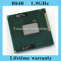 Lifetime warranty Celeron B840 1.9GHz Dual Core SR0EN Notebook processors Laptop CPU PGA 988 pin Socket G2 Computer Original