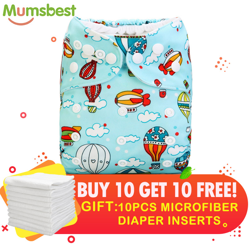 [Mumsbest] Buy 10 Diaper Get 10 Free Insert Baby Girls Boys Cloth Diaper Pack Sale Unisex Factory  Wholesale Baby Nappies